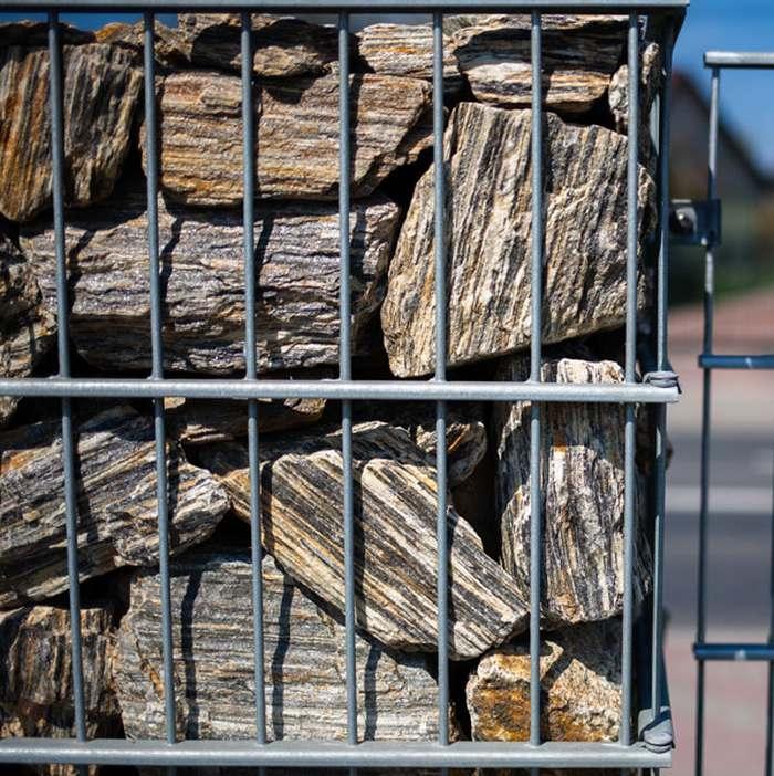 Wybitny Kora kamienna - Gnejs 63-250 - płytka gabionowa, kamień do UT93